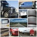 Transportez le collage Photographie stock libre de droits