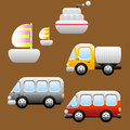 Transports / Vehicles icons Stock Image