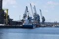 Transshipment port city gdask Stock Photo