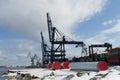 Transshipment port city gdynia Stock Image