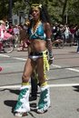 Transvestite at Gay Pride In Colorful Costume Royalty Free Stock Photos