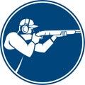 Trap Shooting Shotgun Circle Icon