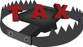 Trap with written taxes Royalty Free Stock Photo