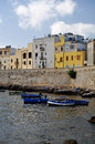 Trapani sicily old quater with boats a view of the older part of in Royalty Free Stock Photos