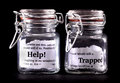 Trapped concept jars Royalty Free Stock Photography