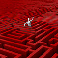 Trapped in the maze Stock Photography
