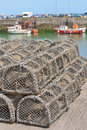 Traps for capture fisheries and seafood groups of traditional on the ireland coast Stock Photography