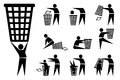 Trash-bin, icons
