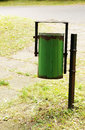 Trash bin at a park Stock Image