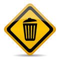 Trash bin vector sign illustration Royalty Free Stock Photo