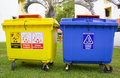 Trash bins Royalty Free Stock Image