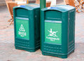 Only trash bins made ​​of plastic placed in the public Stock Photo
