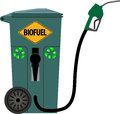 Trash can as a pump for biofuels illustration of from which is derived biofuel Royalty Free Stock Image