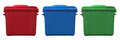 Trash can container for garbage case Royalty Free Stock Images
