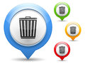 Trash can icon illustration of icont Stock Photos