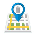 Trash can map icon