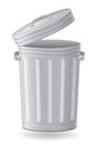 Trash can vector illustration on white background Royalty Free Stock Image