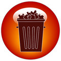 Trash icon or button Stock Image