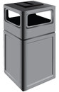 Trash for public places to be installed in vector illustration Royalty Free Stock Photography