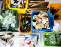 Trash for recycle and reduce ecology environment Royalty Free Stock Photo