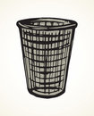Trashcan for paper. Vector drawing Royalty Free Stock Photo