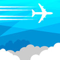 Travel or air abstract cargo color illustration Royalty Free Stock Images
