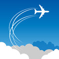 Travel or air cargo abstract agency color illustration Stock Photo