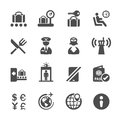 Travel and airport icon set 2, vector eps10 Royalty Free Stock Photo