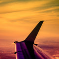Travel and aviation abstract instagram processing Stock Photography