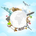 Travel Background Royalty Free Stock Photos