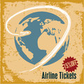 Travel background airline tickets retro style advertising Royalty Free Stock Images