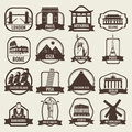 Travel badges and labels. World famous landmarks. Travel and Tourism concept. Vector
