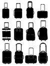 Travel bag icons set Royalty Free Stock Photo