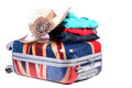 Travel baggage and clothes Royalty Free Stock Photo