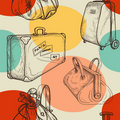 Travel bags seamless pattern Royalty Free Stock Images