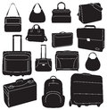 Travel bags and suitcases collection Royalty Free Stock Photography