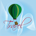 Travel ballon over blue background vector illustration Royalty Free Stock Images