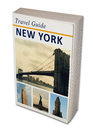 Travel book new york imaginary Stock Photography