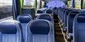 Travel bus interior Royalty Free Stock Photo