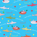Travel cartoon seamless pattern Stock Image