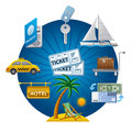 Travel concept icon illustration of Stock Image