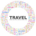 Travel concept illustration graphic tag collection wordcloud collage Stock Photos
