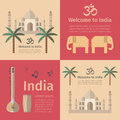 Travel concept posters of India.