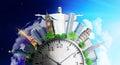 Travel concept. Time zones.