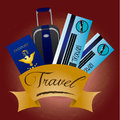 Travel design over red background vector illustration Royalty Free Stock Photography