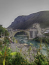 Travel destinations in bosnia old bridge mostar and herzegovina Stock Photography