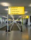 Travel directions - Amsterdam airport Schiphol Royalty Free Stock Photo