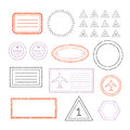 Travel Document And Blank Stamps Set Royalty Free Stock Photo