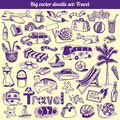 Travel Doodles Collection Vector Royalty Free Stock Images