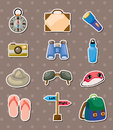Travel element stickers Royalty Free Stock Photo